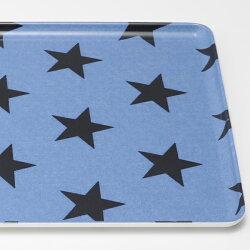 トレー星柄ブルー36cm