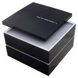 重箱 2段 仕切り購入可能 ボーノ ブラック シール蓋付【あす楽対応】おしゃれ かわいい 2段重箱 二段重箱