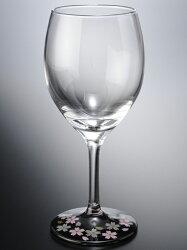 ワイングラス蒔絵桜赤・黒ペアセット