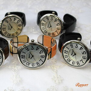 おしゃれで見やすい腕時計☆おっきな文字盤とはめやすいバングルタイプ[ラポール] Rapport レディース ファッション 腕時計 バングルウォッチ 【smtb-k】【w1】10P09Jan16