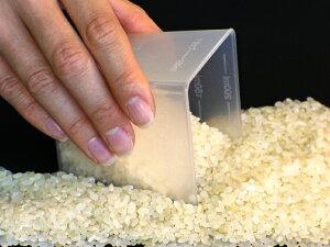 4種類の目盛りで、普通のお米、無洗米の他に小麦粉、水が計量できます角型計量カップ (お米1...
