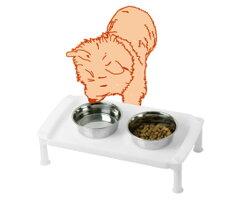 ペットに負担をかげずに食事ができます!ペット食器台テーブル ペット用テーブル