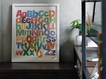 【お買い物マラソン限定 割引クーポン 配布中】 アートポスター Alphabets(アルファベッツ) インテリア 絵 絵画 アート アートポスター アートパネル アートフレーム リトルアート 玄関 額入り 壁掛け おしゃれ ウォール セクシー モノクロ 現代アート 新生活