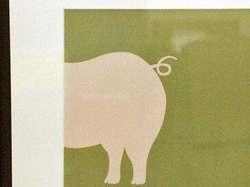 【お買い物マラソン限定 割引クーポン 配布中】 アートポスター PIG(ピッグ) インテリア 絵 絵画 アート アートポスター アートパネル アートフレーム リトルアート 玄関 額入り 壁掛け おしゃれ ウォール セクシー モノクロ 現代アート 写真 ヴィンテージ 新生活