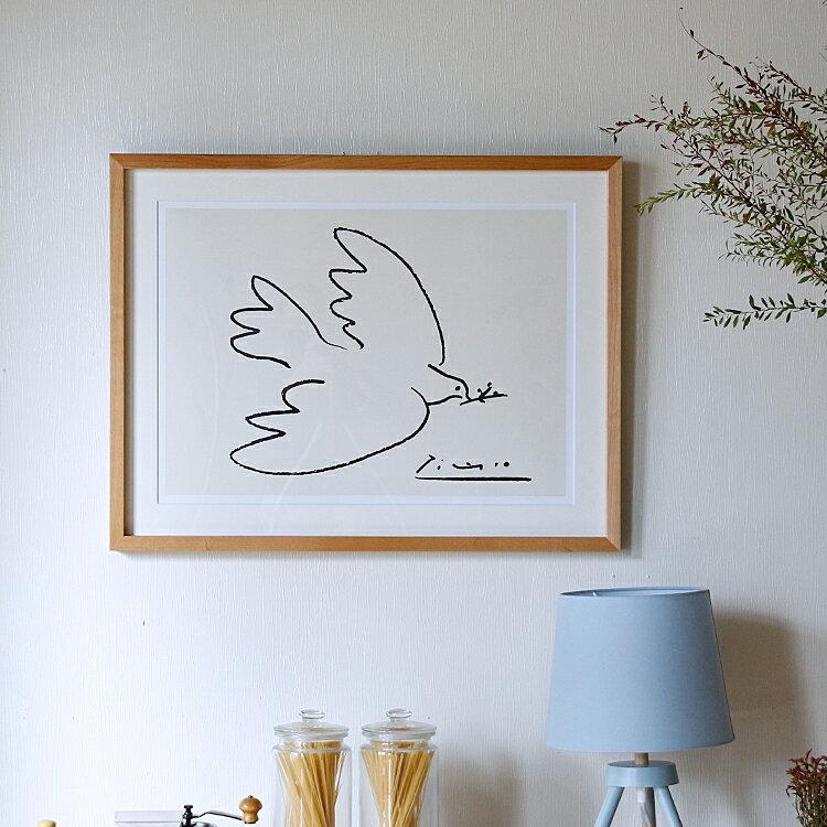 アートポスター Pablo Picasso Dove of Peace(パブロ ピカソ ダブオブピース) インテリア 絵 絵画 アート アートポスター アートパネル アートフレーム リトルアート 玄関 額入り 壁掛け おしゃれ ウォール