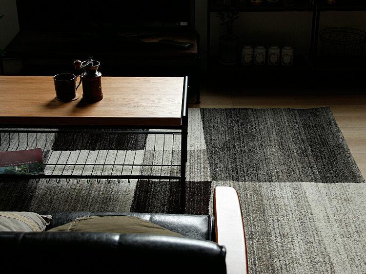 ラグマットCALM(カルム)240×240ラグマットラグホットカーペット対応絨毯じゅうたんグラデーション北欧メンズライクヴィンテージビンテージリビングダイニングレッドグレーブラウンブルー床暖房カルムcalm