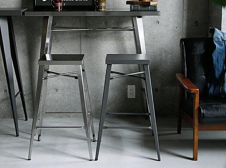 ハイスツールGRAB(グラブ)シルバー(ステンレス製)カウンターチェアカウンターチェアーハイスツールスツールバーチェアハイチェアダイニングチェアイス椅子いすおしゃれステンレススチールアイアン