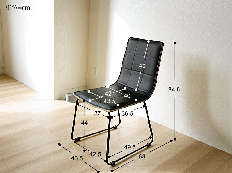 合成革皮 ビンテージ チェアー キッチン 椅子 (マーク) モダン ダイニングチェア Mark ブラック 食卓 ヴィンテージ ダイニングチェアー ダイニングチェアー レザー イス チェア