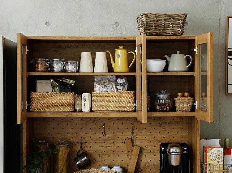 LINA105キッチンボード食器棚完成品105cmカップボードキッチンボードキッチン収納レンジ台収納キッチンラックおしゃれ北欧ヴィンテージ西海岸木製アルダー無垢材日本製LINAリナ