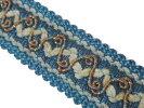 NO.5333手芸用ブレード青色ブルー幅2cm×長さ2m巻き