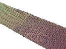 NO.5336手芸用ブレード緑色玉虫色幅4cm×長さ2m巻き