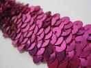 No493スパンコールブレード収縮性タイプ紫色(パープル)幅3.0cm×長さ1m巻き【ストレッチ】