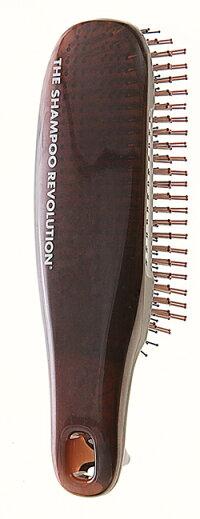 [★割引クーポン使えます♪]★エスハートエスSHSスカルプブラシCOM(コム)(ロング&ハード)☆高級感のあるブラウンのピン数552本タイプ♪髪にツヤとボリュームを♪☆送料無料!