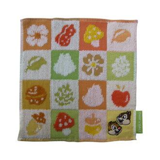 ≪≫ 小毛巾(毛巾手帕)<樹瓷磚>[Disney,外出,餐巾]
