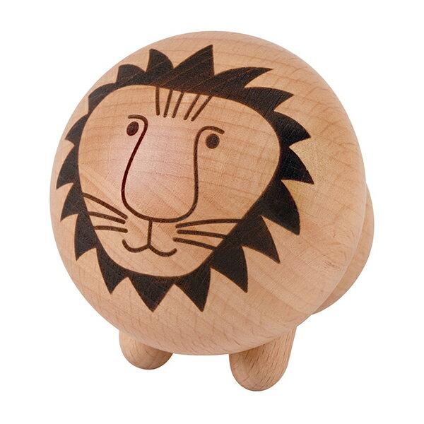 スウェーデンの陶芸家にしてデザイナー、リサラーソンの木製ライオン。オーナメントにしか見えませんが、実はこちらもツボ押しです。