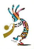 【ポスト投函で送料無料】不思議なココペリ-太陽の角笛-ココペリ絵画