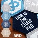 ハニカム 六角形 チェアパッド FOLK柄 40×35cm 001268[人気の洗えるおしゃれなチェアパッド 滑り止めの加工付き 北欧のインテリアにぴったりな椅子のパッド スツールにもおすすめ 35×40cm]【ポイント1倍】