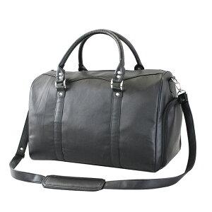 本ラム革軽量ボストンバッグ[ボストンバッグ 旅行・ゴルフやビジネスの出張におすすめの軽いボストン シューズ収納がついたメンズのバッグ ショルダーにもなる本革の鞄 旅行バック] 即納