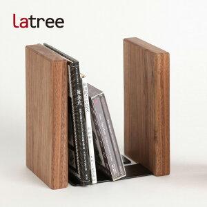 PLAM プラム ブックエンド2 ウォルナット PL1FUN-0090180-WNOL[おしゃれなインテリアにもなる本立て(ブックスタンド)木製のナチュラルでかわいいブックエンド・卓上本棚]