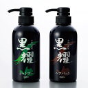 黒耀シャンプー&ヘアパックQS[シャンプー&トリートメントの2本セット 自然染料 シャリンバイ 白髪 染め] 即納