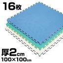 《16枚》リバーシブルジョイントマット2.0 ボディメーカー 100×100×2cm[体育・柔道・空...