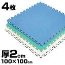 《4枚》リバーシブルジョイントマット2.0 ボディメーカー 100×100×2cm[体育・柔道・空手...