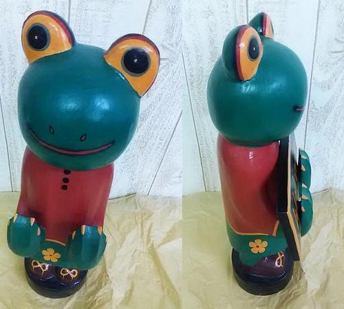 インドネシアよりやって来た!玄関でみんなをお出迎え!大型バリ人形(WELLガエル大)アジアン雑貨