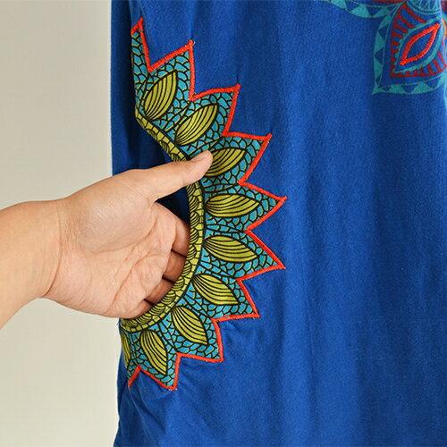 くしゅくしゅエスニックTシャツアジアンエスニックプリントTシャツ