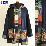 エスニックブラウスストーンウォッシュトップスエスニックファッションレディースフリーサイズ0743BC1490