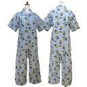 レディース/婦人☆ミニオンズシャツパジャマ/綿パジャマ/前開きパジャマ/ナイティ/ホームウェア