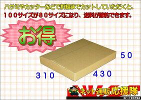 100サイズダンボールケースA3折線50ミリ