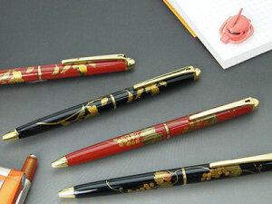 漆の本場、輪島塗りの工房とのコラボレーション企画本物の蒔絵ペン輪島塗り、漆蒔絵ボールペン