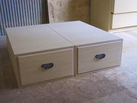 桐たんす 押入 収納 総桐押入収納庫2個組縦に重ねても横に並べても使える押入収納 製造直売 商品番号623
