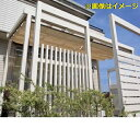 タカショー Sポーチ 壁付タイプ 1.5間×4尺 *シェード・正面フレームは別売りです ブラウンスモーク