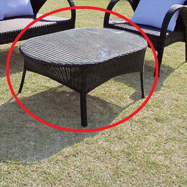 ジャービス商事 人工ラタン オーバルガラステーブル NH-2072-1Z ●38716:エクステリアのプロショップ キロ