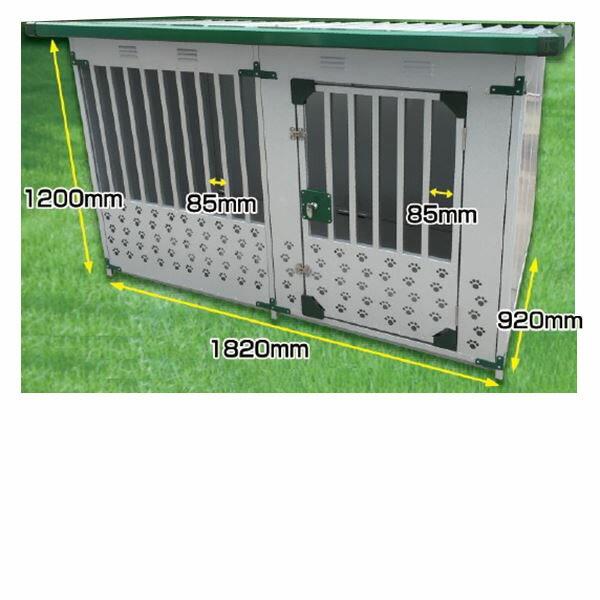 メタルテック ドックハウス 犬小屋 DFD-1 床有 0.5坪 【ガルバリウム鋼板で頑丈です】【屋外用 犬小屋】