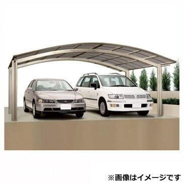 カーポート 2台用 四国化成 バリューポート ワイド 基本セット 延高 熱線吸収ポリカ板 6056 VPNE-K6056 『アルミカーポート 自動車屋根』