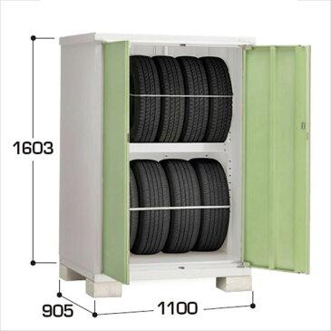 イナバ物置 BJX/タイヤストッカー BJX-119DT タイヤ専用収納庫  『追加金額で工事も可能』 『屋外用ドア型小型物置 DIY向け』 LG(リーフグリーン)