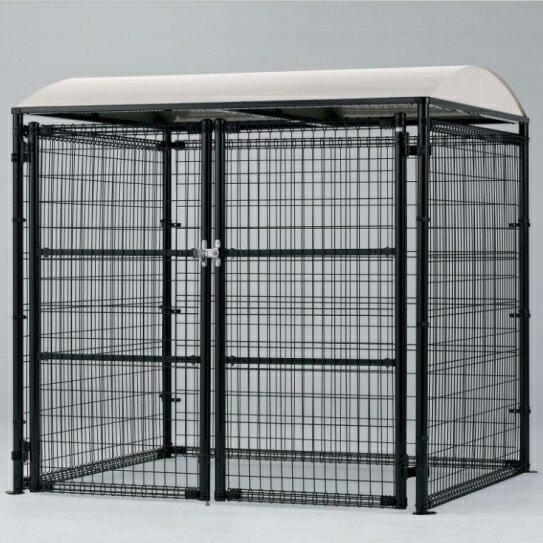 四国化成 ゴミストッカー LMF10型(アンカー式・アルミ屋根) GSM10-A4020BK 『ゴミ袋(45L)集積目安 306袋、世帯数目安 153世帯』 『ゴミ収集庫』『ダストボックス ゴミステーション 屋外』 ブラック