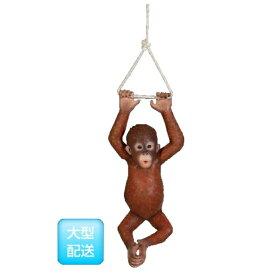 FRPぶらさがるオランウータンの赤ちゃん/HangingBaByOrangutan『動物園オブジェアニマルオブジェ店舗・イベント向け』