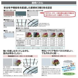 三協アルミレボリューZ0.5間×2尺1500タイプ/関東間/1・2・3階用R型/柱なし式/単体※雨トイは3m×2本を手配します【テラス屋根】防汚ポリカ