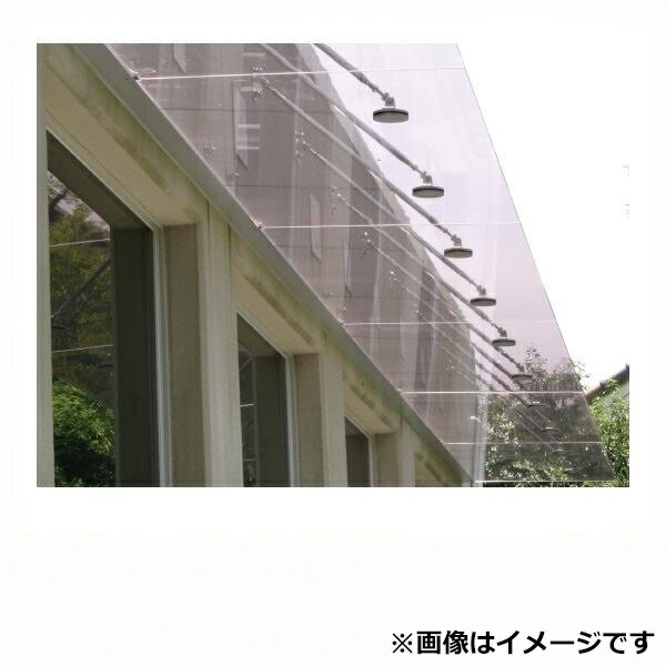 アルフィン ガラスひさし 透明/乳白 D500×L1400 AF810:エクステリアのプロショップ キロ