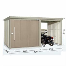 タクボ物置 TP/ストックマンプラスアルファ TP-S40R26 多雪型 標準屋根  『駐輪スペース付 屋外用 物置 自転車収納 におすすめ』 カーボンブラウン