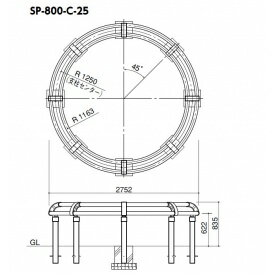 サンポール サポーター SP-800 -C-25 ツリーサークルタイプ