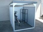 ダイマツ 多目的万能物置 DM-11L 壁パネルロングタイプ 土台寸法 間口1613×奥行2355 『自転車屋根 横雨に強いスチールタイプ』