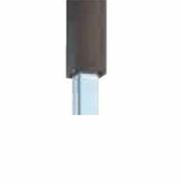 ★日本の職人技★グローベン 竹垣ユニット Gアルミ中芯柱ユニット(中芯40角スチール仕様) 栗(木目)60角 H1800用柱 直角柱  A11GC118M-S