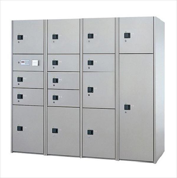 ナスタ 宅配ボックス 屋内用 コンピューター式 標準セット 4列15ボックス スチール扉 前入れ後出し『マンション用』