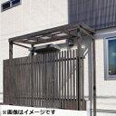 タカショー Sポーチ 独立タイプ 1.5間×8尺 *正面フェンスは別売りです ブラウンスモーク