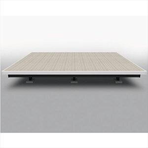 三協アルミ屋外フローリングラステラ3.0間×5尺床張り出し納まりツートンフレームタイプ(下幕板黒)束柱・固定/ロングタイプNRD2-1850L『ウッドデッキ人工木樹脂デッキの進化形』