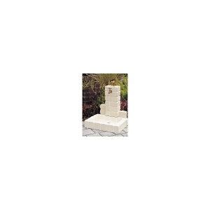 ニッコー不凍水栓ユニットサナンド立面:サークルタイプパン:角型(PB)D-JX-PB-050OW【水栓柱・立水栓セット蛇口水受け付き3点セット】オフホワイト